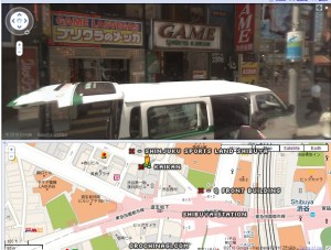 Map to Kaikan and Shinjuku Sports Land